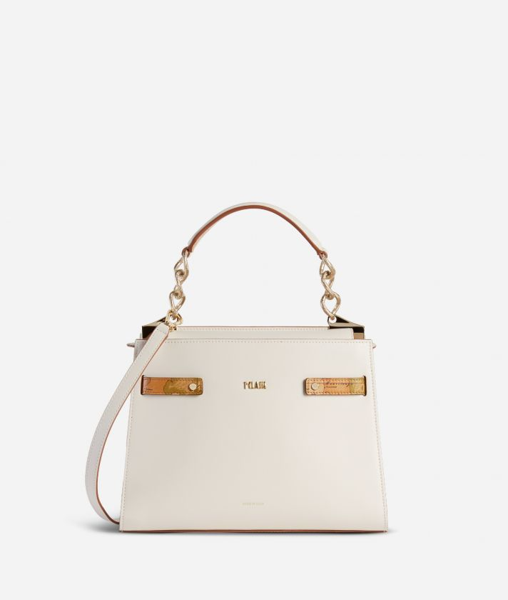 Diva Bag Handbag in smooth cowhide leather White