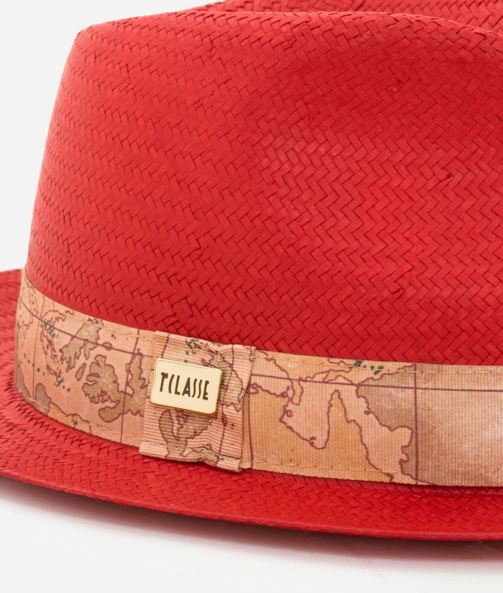 Casual Hat with Geo Classic detail Red
