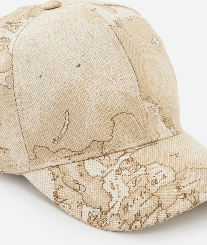 Baseball cap in Geo Safarin print linen blend