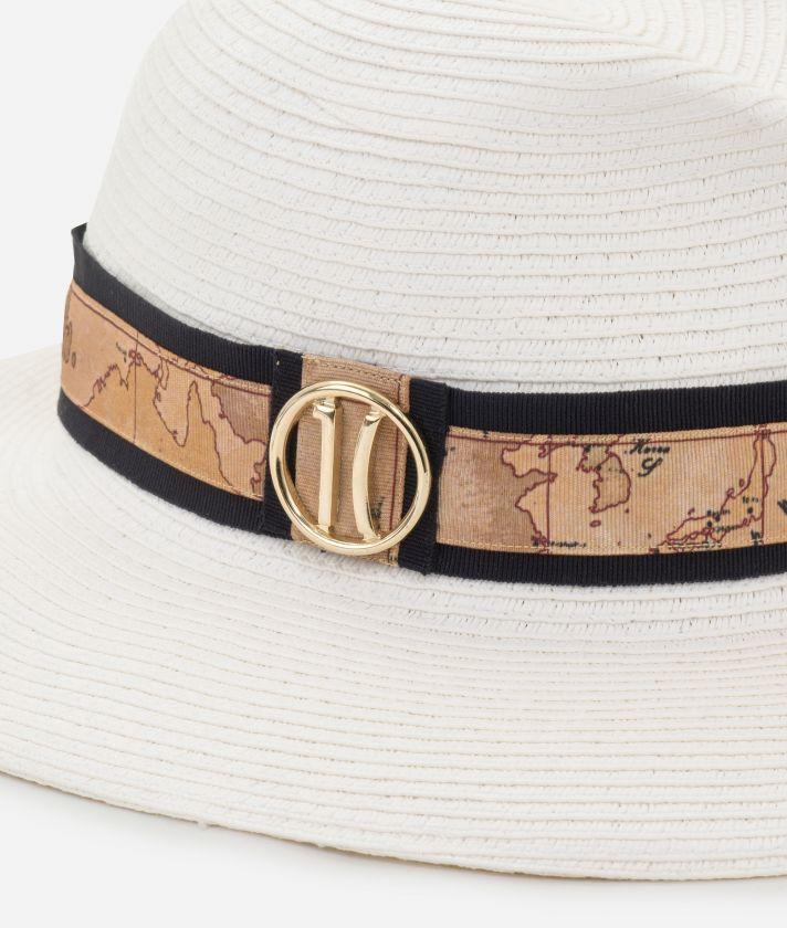 Cappello con nastro stampa Geo Classic e logo 1C Bianco