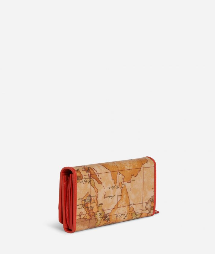 Soft Sound Bifolder wallet in Geo Soft Classic fabric Red