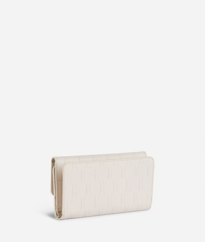 Nappa Monogram Bifolder wallet in leather with 1C impression White