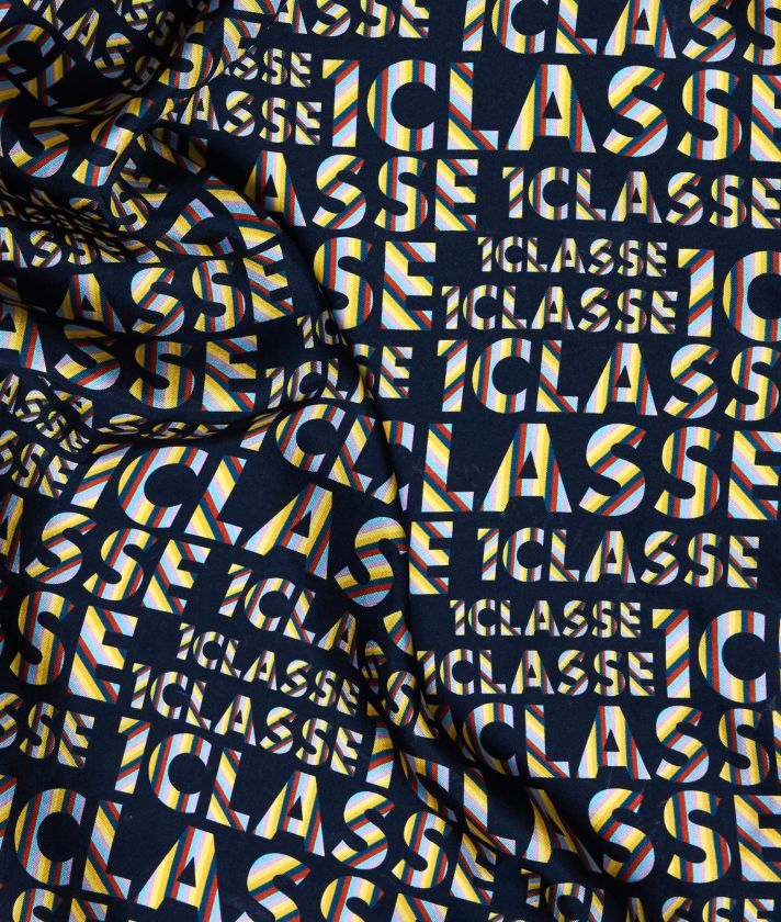 Logo Power Foulard with all-over 1a Classe logo print Midnight Blue