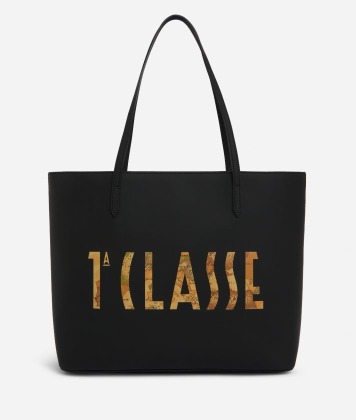 Summer Vibes Shopping Bag with maxi logo 1a Classe Black