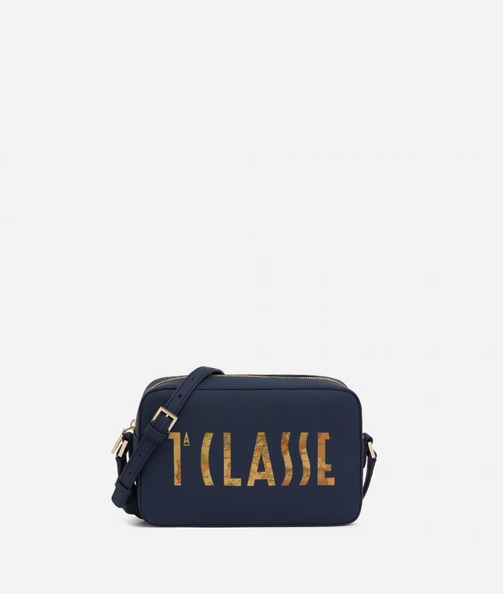 Summer Vibes Reporter Shoulder Bag with maxi logo 1a Classe Navy Blue