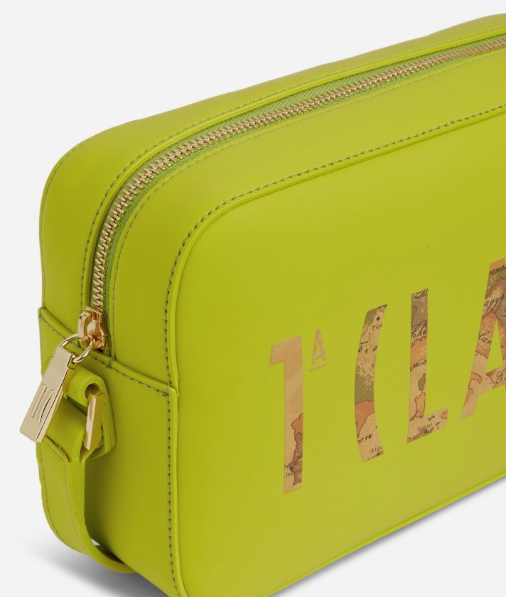 Summer Vibes Reporter Shoulder Bag with maxi logo 1a Classe Lime Green