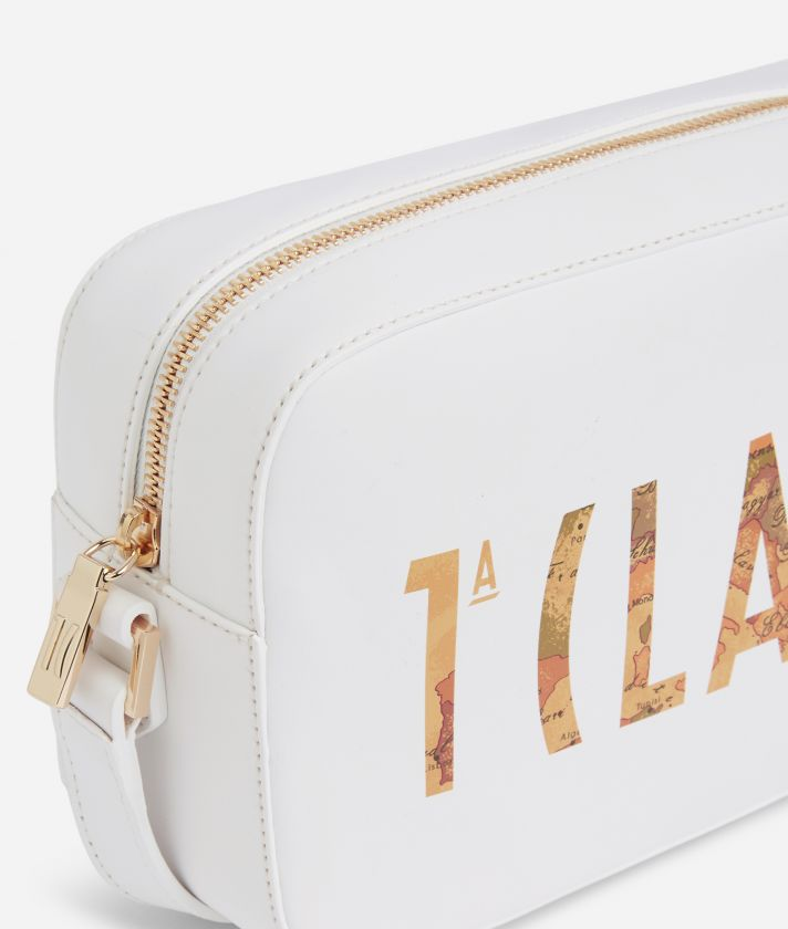 Summer Vibes Reporter Shoulder Bag with maxi logo 1a Classe White