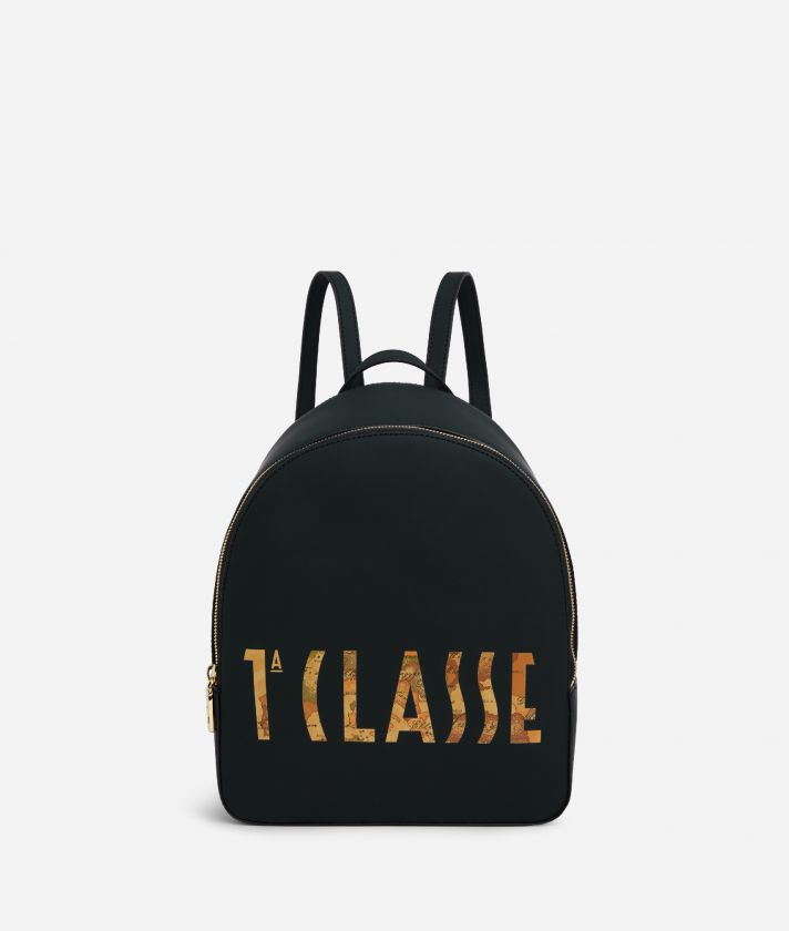 Summer Vibes Backpack with maxi logo 1a Classe Black