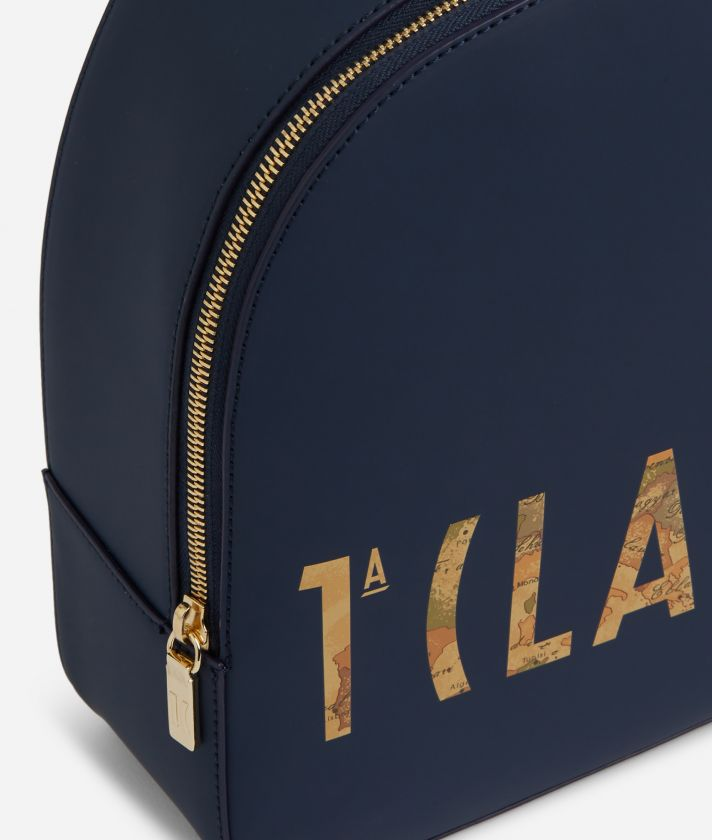 Summer Vibes Backpack with maxi logo 1a Classe Navy Blue