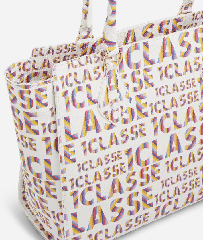 Logo Power Shopping Bag all-over 1a Classe logo print White
