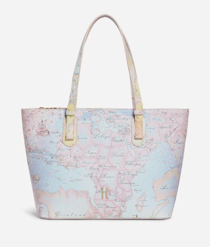 Colorful Geo medium Shopping Bag Geo Multicolor print