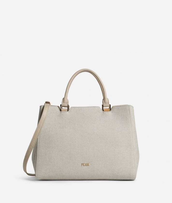Dream Geo Handbag with shoulder strap Sand
