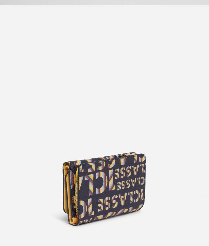 Logo Power medium bifolder Wallet with all-over 1a Classe logo print Midnight Blue