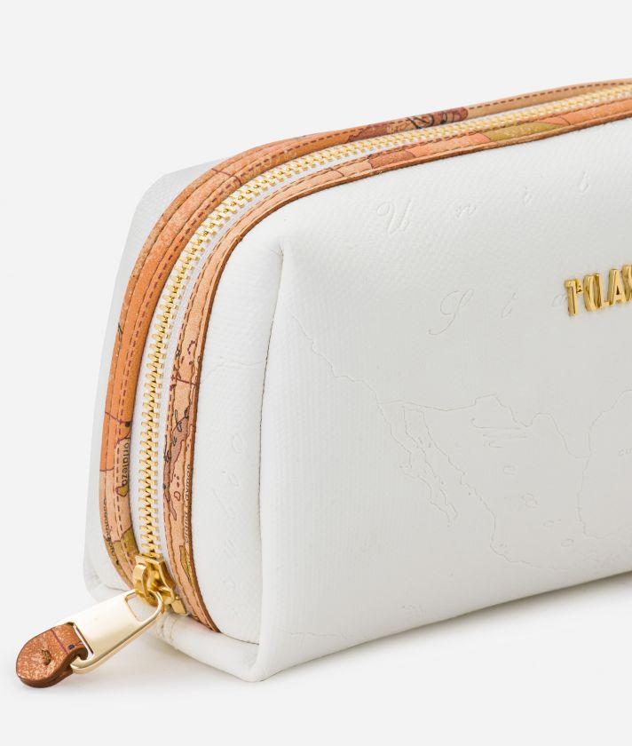 Dream Geo medium Beauty Case White