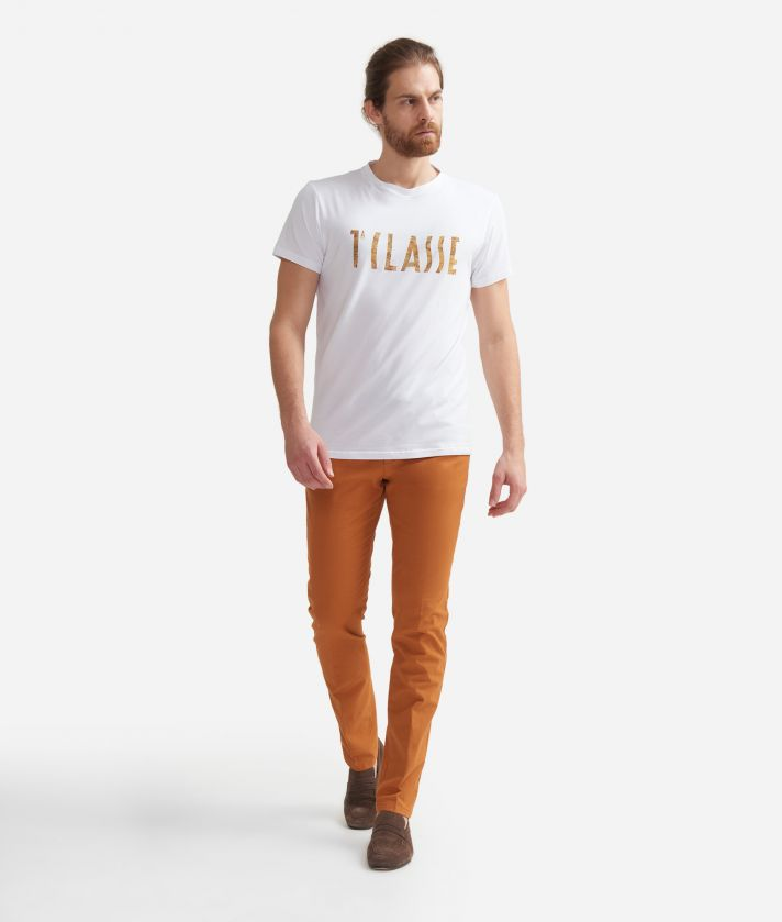 T-shirt in cotton with 1A Classe print logo White