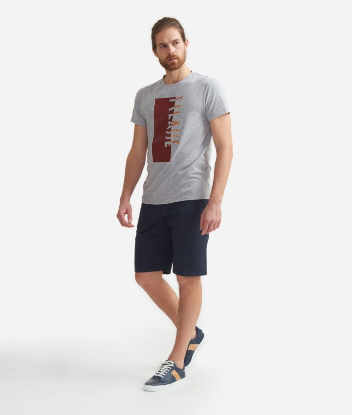 T-shirt in cotton with print Grey