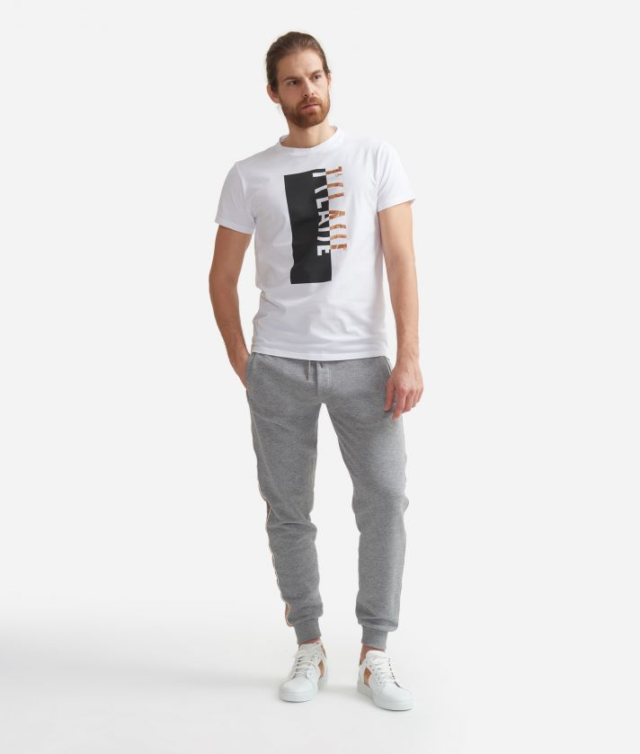 T-shirt in cotton with print White
