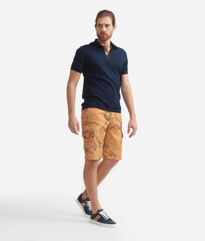 Bermuda cargo shorts with Geo Classic print