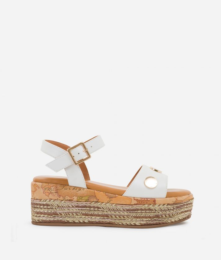 Sandals in eco-leather White
