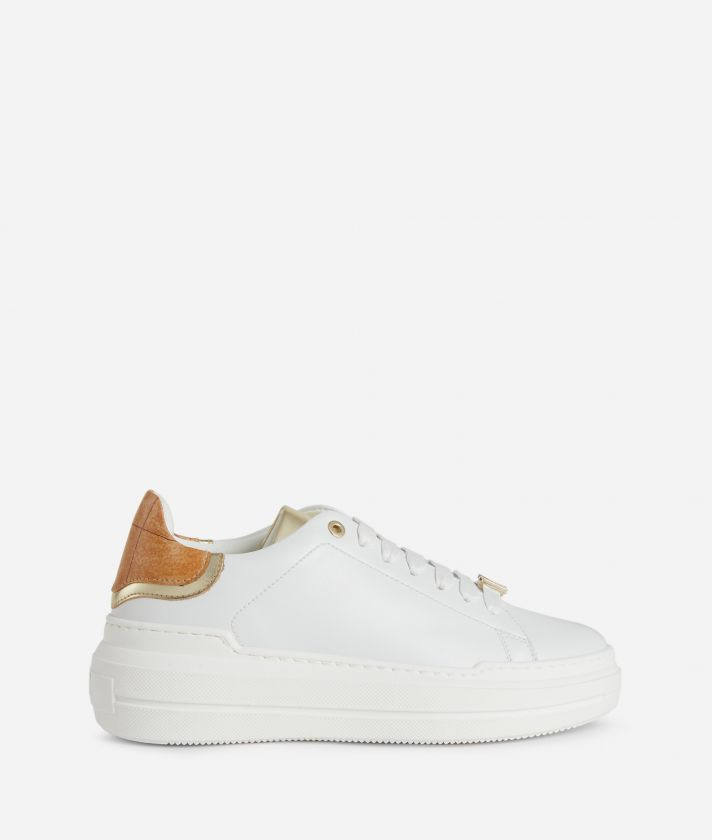 Sneakers 1C in eco-leather and Geo Classic details White