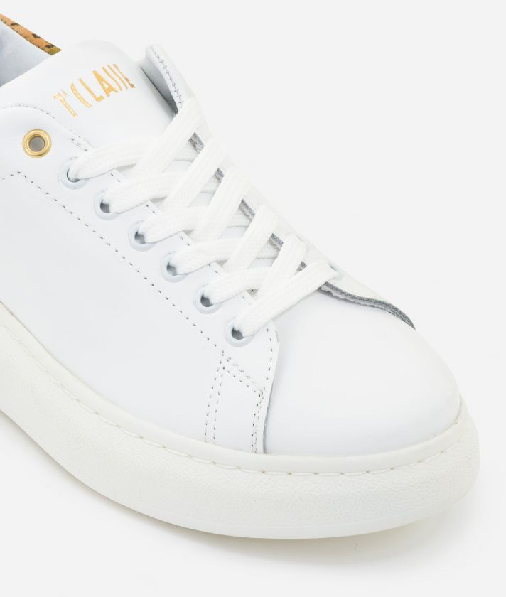 Sneakers in smooth leather White