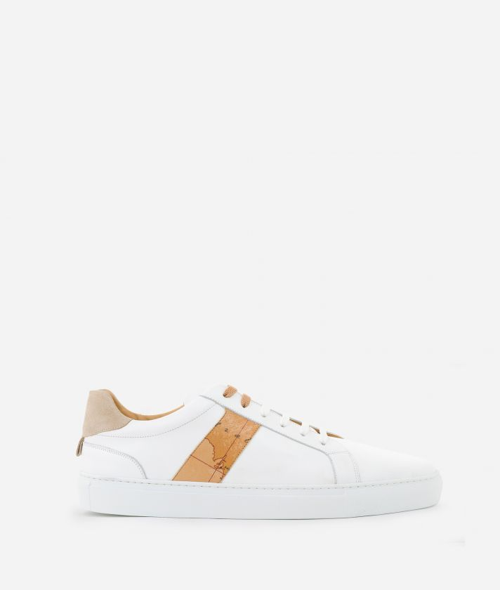 Sneakers Uomo in pelle liscia Bianche