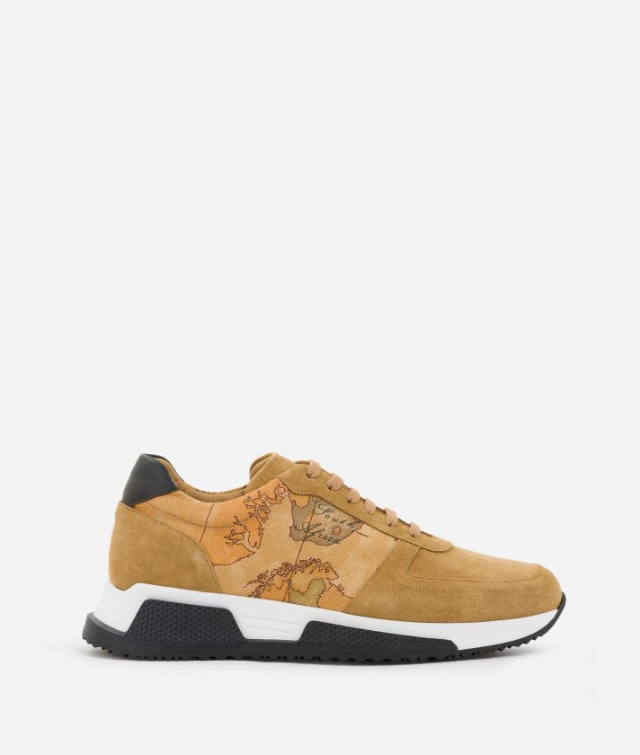 Man Sneakers in Geo Classic print canvas
