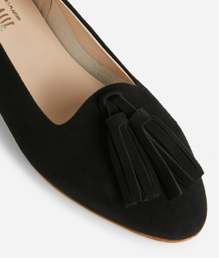 Online Exclusive Mocassins in suede leather Black