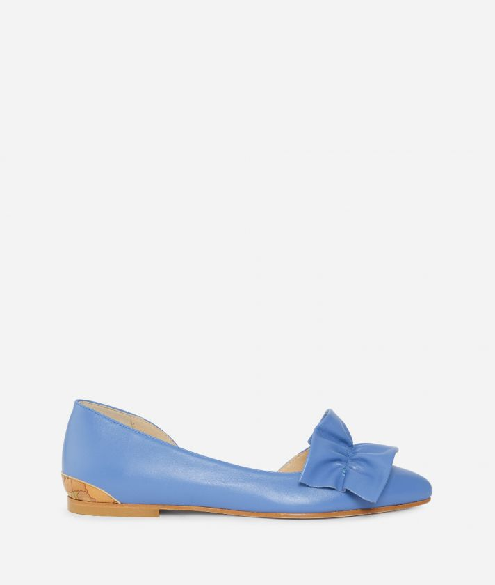 Online Exclusive Ballets flats in smooth leather Blue