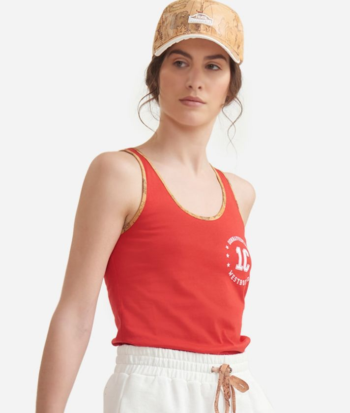 Tank top in jersey cotton Red