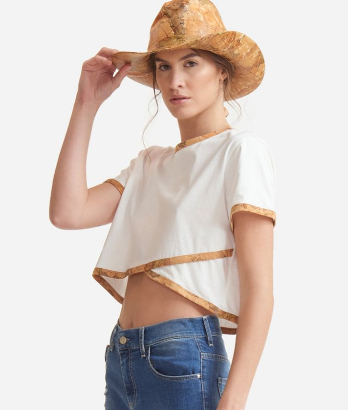 Crossed T-Shirt in jersey cotton White