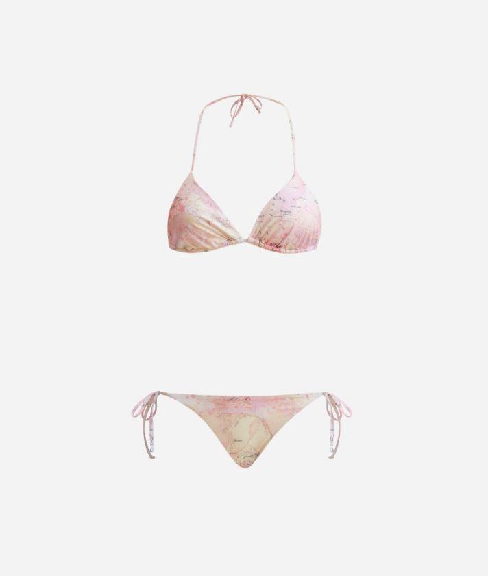 Colorful Geo Triangle bra and bikini bottom Geo Multicolor print