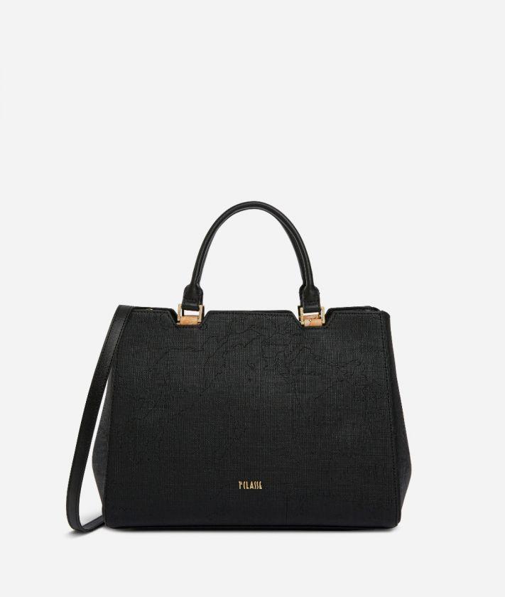 Dream Geo Handbag with shoulder strap Black