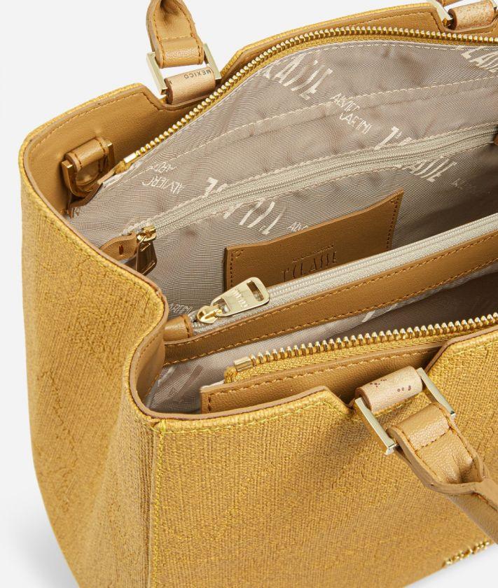 Dream Geo Handbag with shoulder strap Grain Yellow
