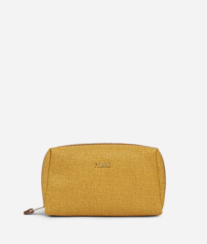 Dream Geo medium Beauty Case Grain Yellow
