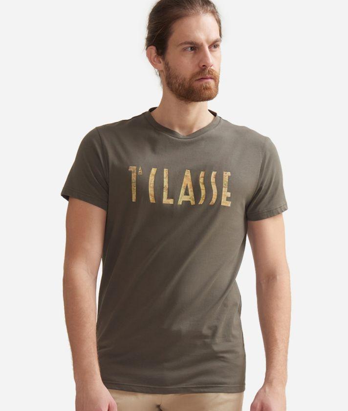 T-shirt a manica corta in cotone con logo 1A Classe Verde
