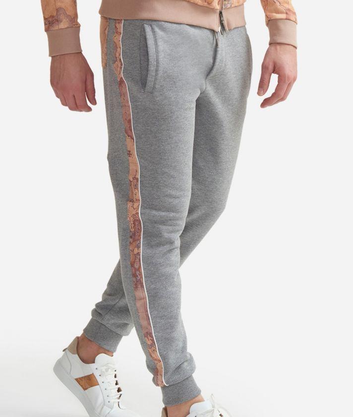 Pantalone jogging in felpa di cotone con coulisse Grigio