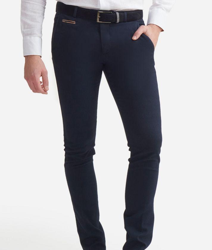 Pantalone super slim fit in cotone Blu