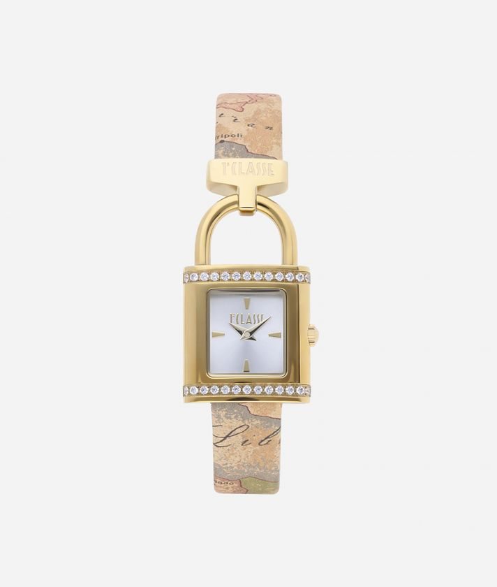 Bali Watch with Geo Classic print leather strap