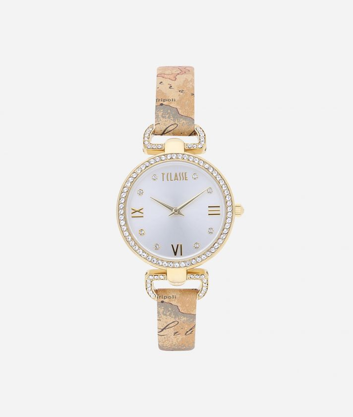 Madagascar Watch with Geo Classic print leather strap