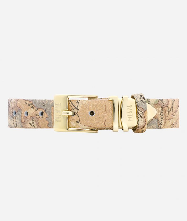 Ischia Watch with Geo Classic print leather strap