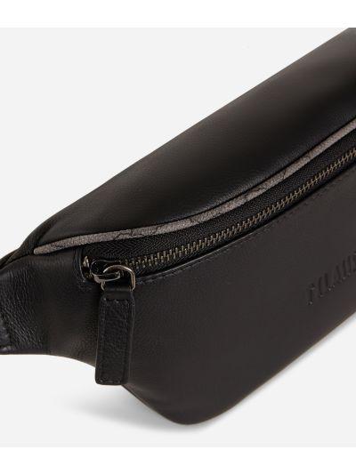 Belt bag in pelle nera