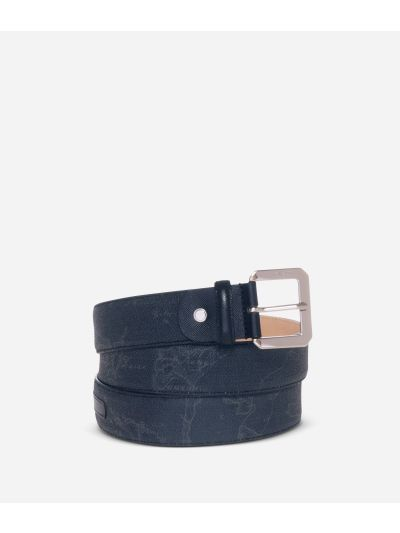 Geo Black Belt with metal buckle