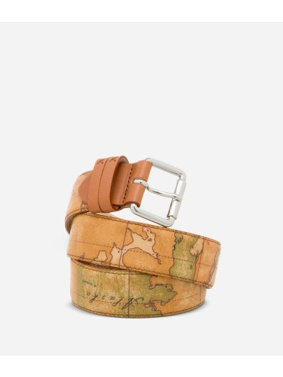 Geo Classic Belt with logo buckle