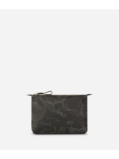 Geo Soft Black Carry-all pouch
