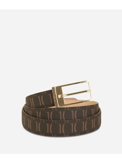 Monogram Woman Belt Dark Buff
