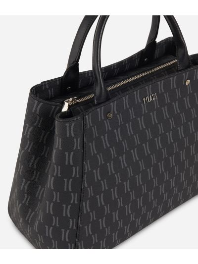 Monogram Medium Handbag Black