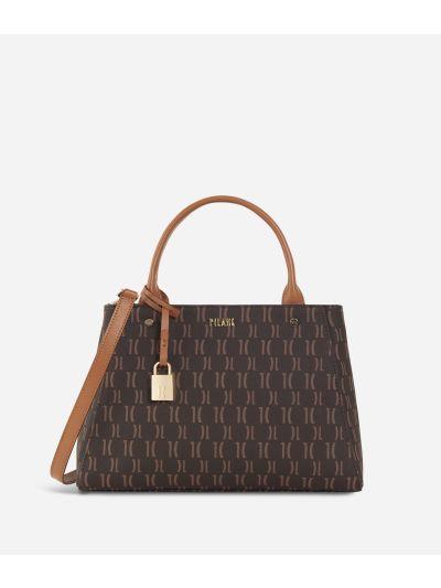 Monogram Medium Handbag Dark Buff