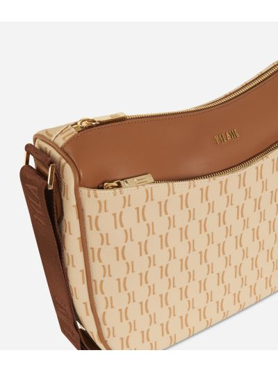 Monogram Half-moon Bag Cream