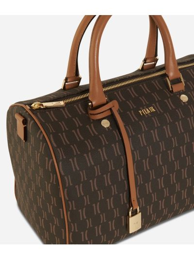 Monogram Satchel Bag Dark Buff